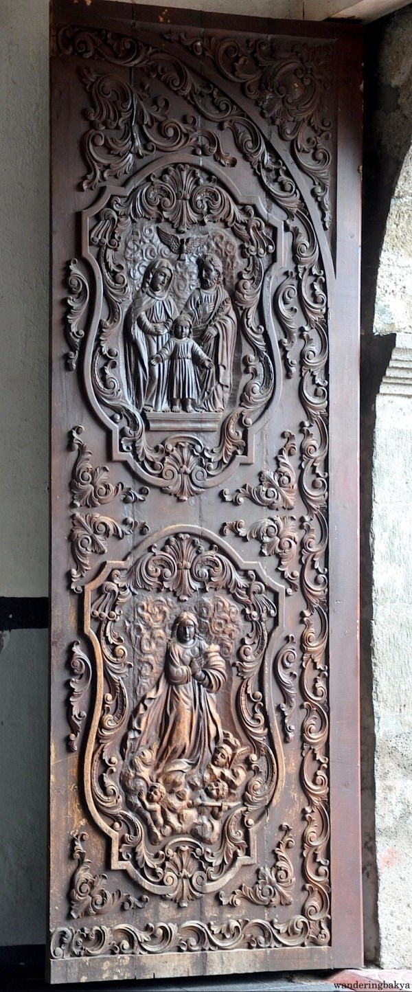 One of the panels of the main door