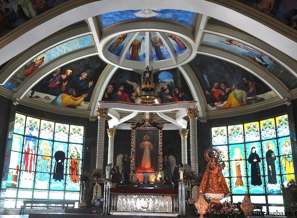 The main altar of the Divine Mercy Shrine. It is a replica of the Divine Mercy interpretation of Robert Skemp