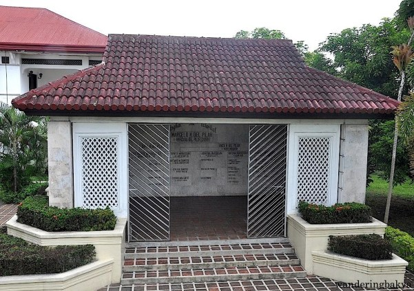 The del Pilar family mausoleum. Upon the completion of the mausoleum, the remains of the family members of Marcelo H. del Pilar were re-interred under one roof.