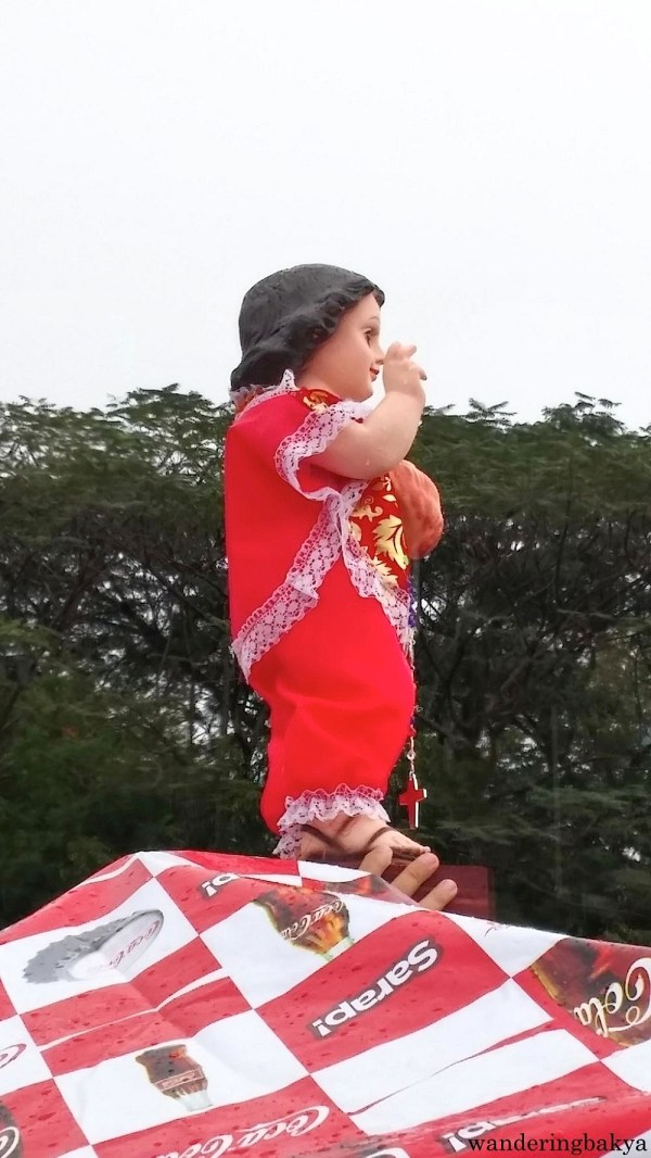 One of the Sto. Niño images that was brought to the mass. The mass coincided with the Feast of Sto. Niño.