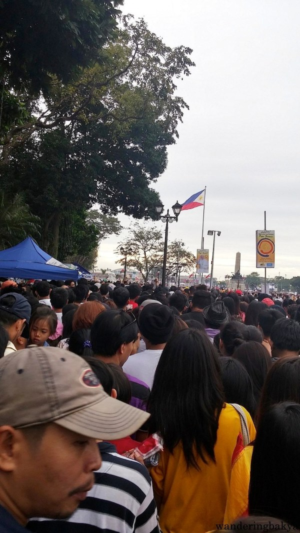 Near Rizal Monument, looking forward to see Pope Francis