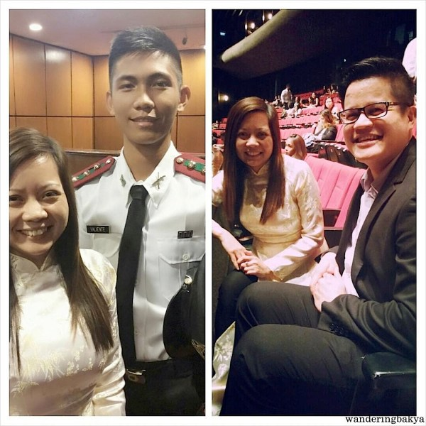 With cadet officer Valiente and with Jun