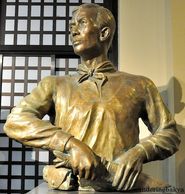 Bust of Andres Bonifacio found on the first floor of Museo ng Katipunan. Bonifacio is known as the Supremo ng Katipunan. He and his bolo (blade) were inseparable.