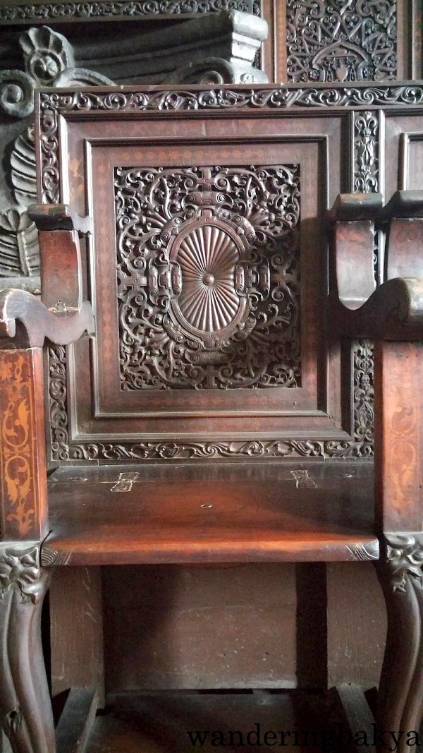 This chair is one of the many chairs found in the choirloft.