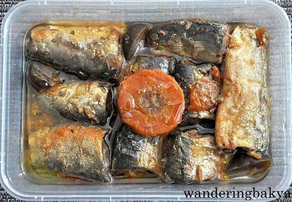 Home-cooked Spanish style sardines, P150.00 (US $3.36).