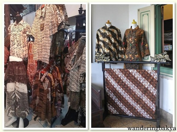 Batik from Yogyakarta, they range from IDR 60,000 (US $4.67) to IDR 200,000 (US $15.58) for the regular ones.