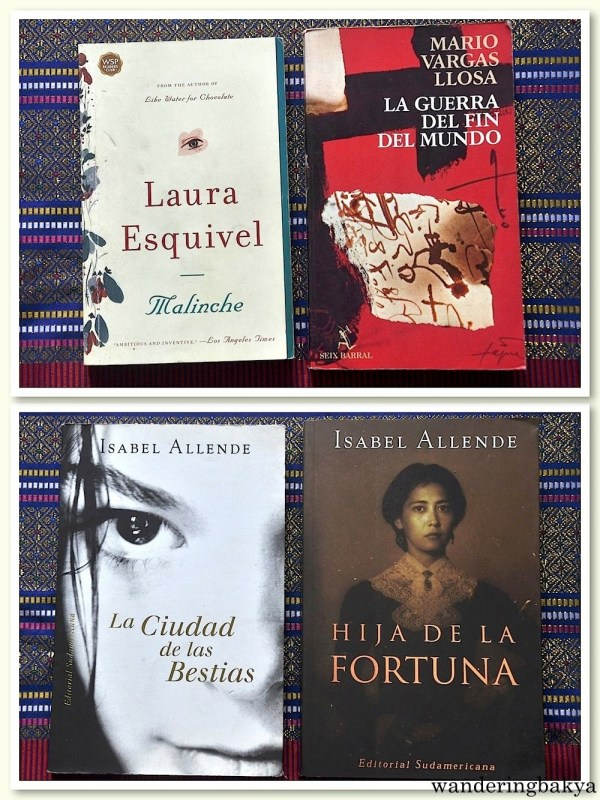 At the end of the day, I was able to cull four books. Everything is in Spanish except for Laura Esquievel's Malinche. Thank you to those who gave us their receipts. :) Thank you, La Presa.