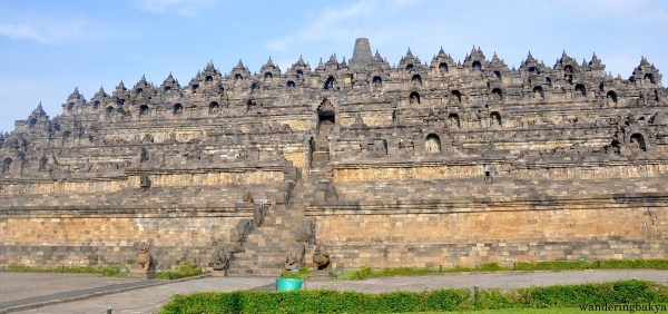 The front of Borobudur temple. It is intimidating.