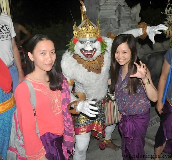 Virg and I with a kecak and fire dance performer
