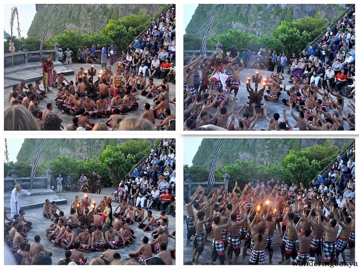 Other parts of kecak and fire dance.