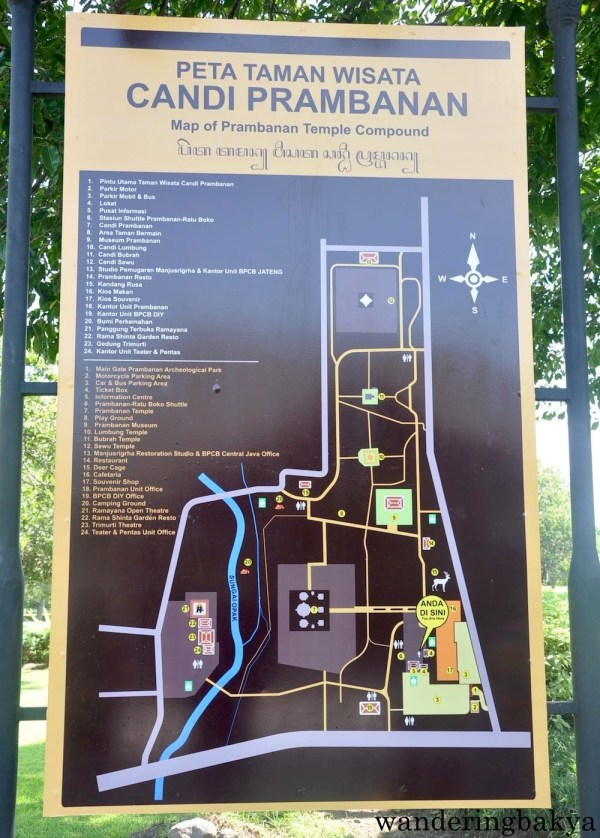 Map of Prambanan Temple Compound