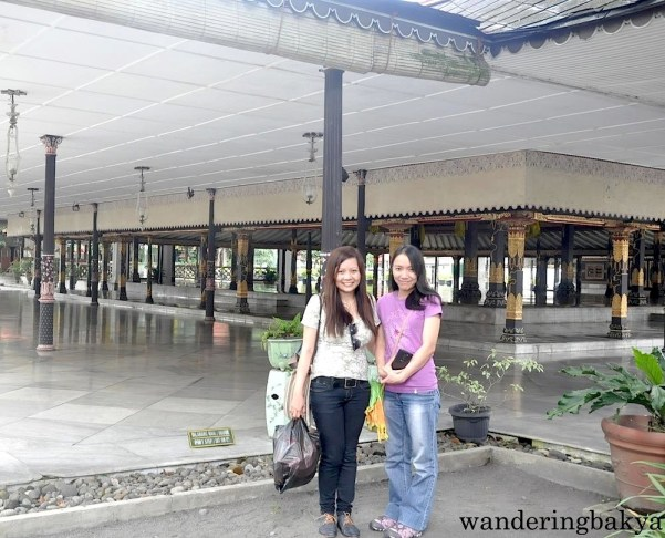 Virg and I in Kraton complex