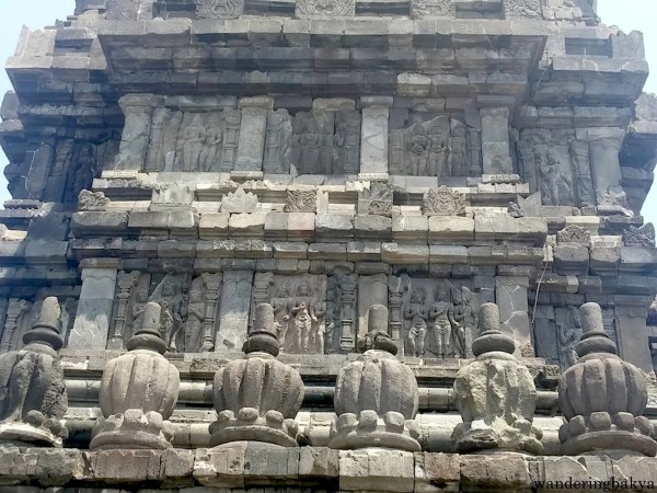 Relief panels that adorn the  outer walls of Prambanan temples