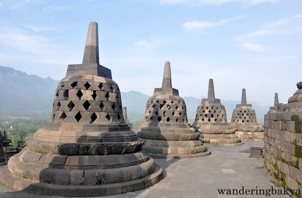 Borobudur stupas from the upper levels