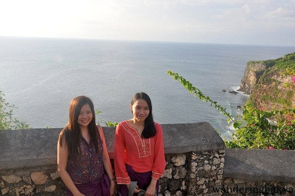 Virg and I on the right side of Pura Luhur Uluwatu.