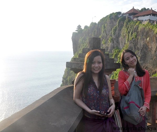 Virg and I on the left side of Pura Luhur Uluwatu.
