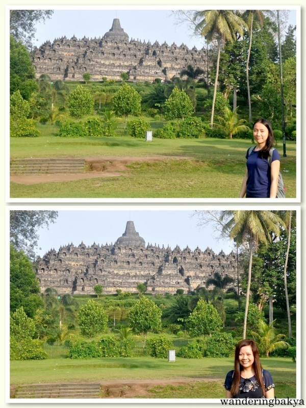 Virg and I from the left side of Borobudur temple.