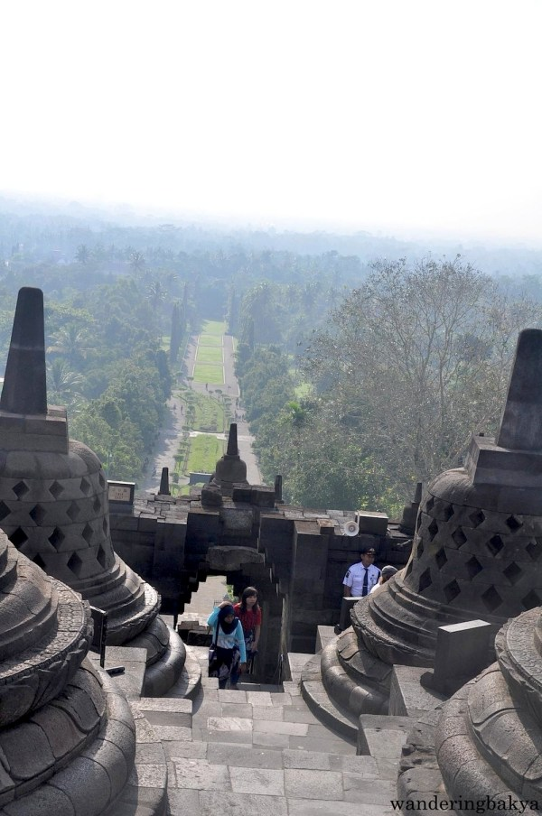 View from the top of Borobudur temple