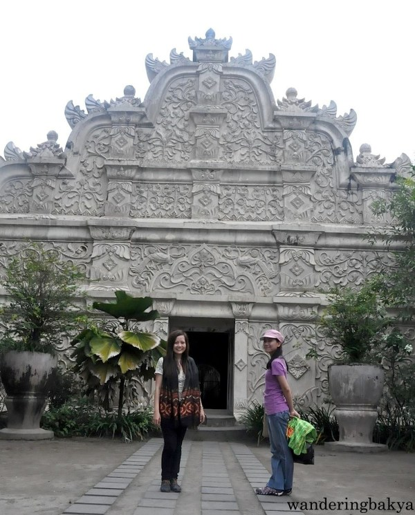 Virg and I at the West entrance of Taman Sari Water Castle