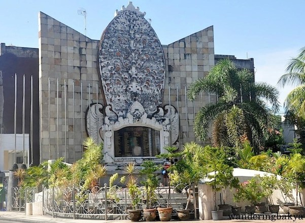 The Bali Bombing Memorial or Ground Zero Monument. It stands where Paddy's Pub was located. Paddy's Pub was destroyed in the 2002 bombing.