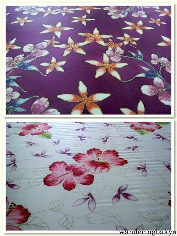 Hand-made batik in a Kuala Lumpur shop.