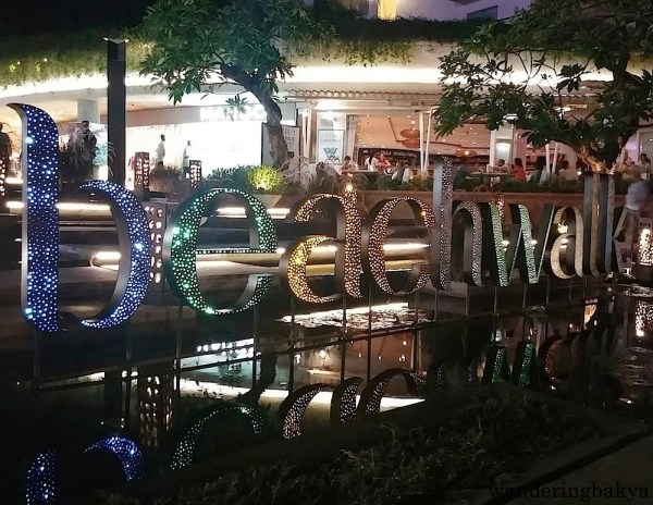 Beachwalk is a high-end mall that faces Kuta Beach. It has faucets in its entrance to accommodate customers who just came from the beach.