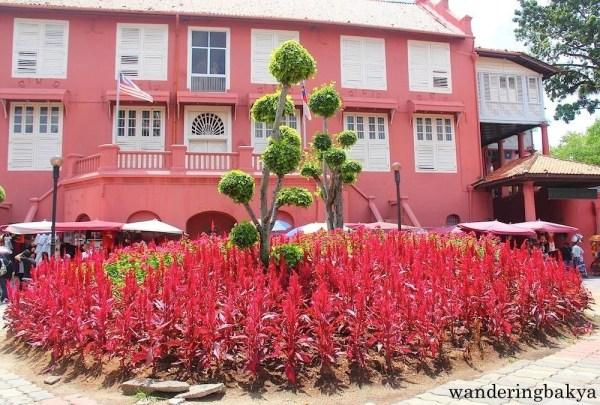 It is red everywhere in Melaka.