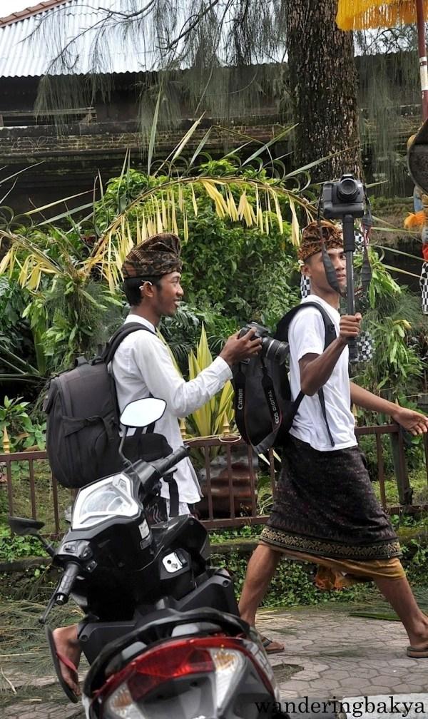 Local boys wearing traditional clothes - kamben sarong - on their way to a festival. This photo was taken near Kintamani.