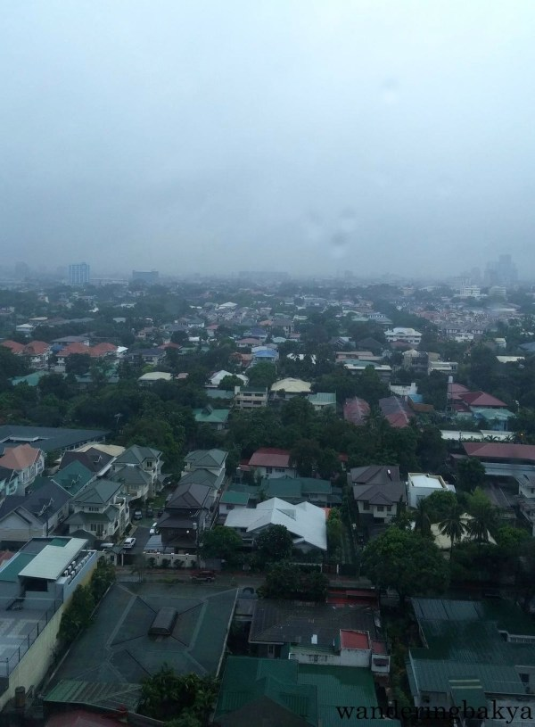 The view of Quezon City from my room on a rainy Sunday.