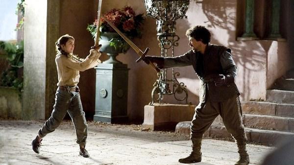 Arya and Syrio Water Dancing. Photo from fanpop.com.