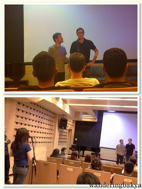 During the question-and-answer portion. Sergio and Juan Manuel gamely satisfied the queries of the audience.