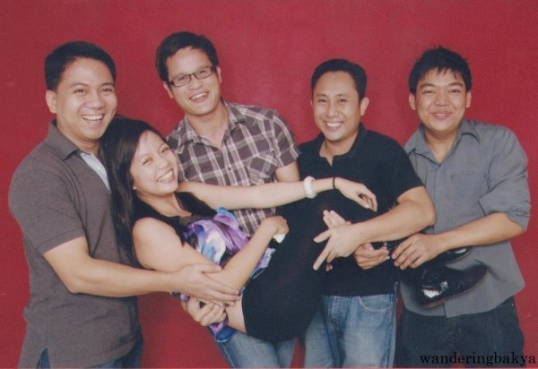 With Edsel, Jun, Jed and Jonelo after New Year's Eve celebrations.