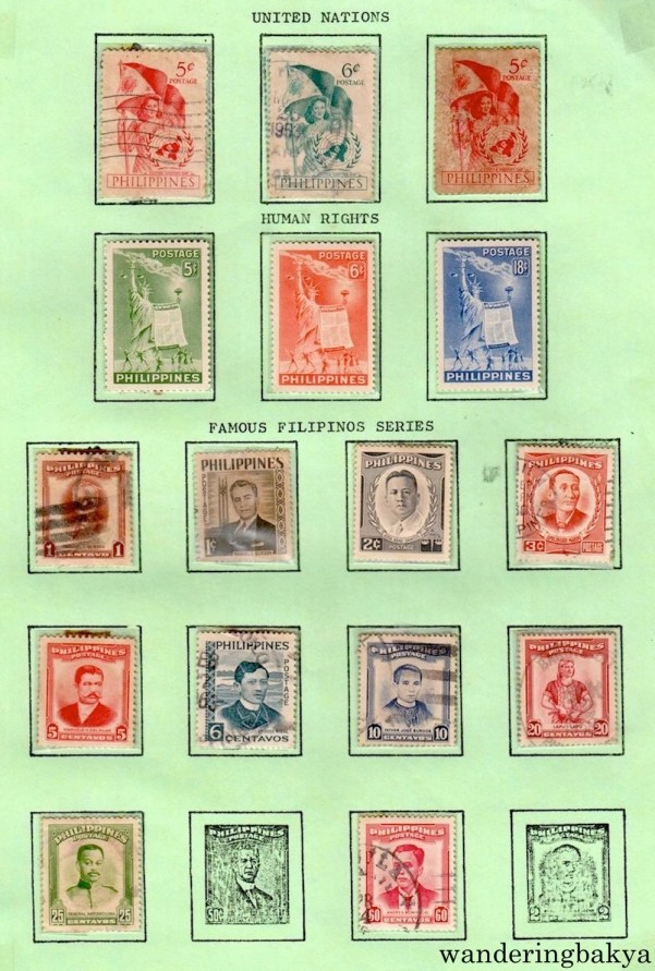 Philippine Stamps: United Nations, Human Rights and Famous Filipino Series.