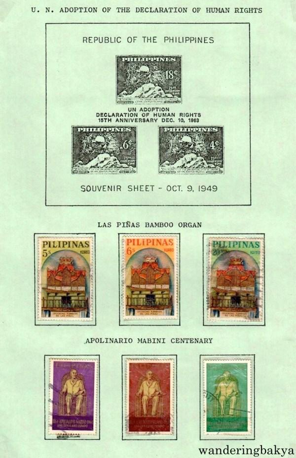 Philippine Stamps: Las Piñas Bamboo Organ and Apolinario Mabini Centenary
