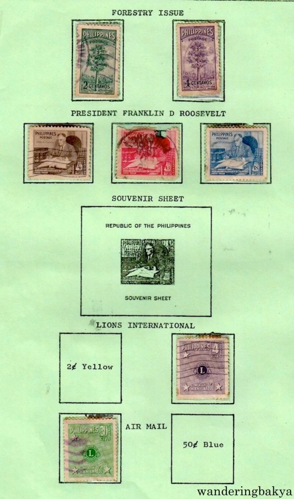 Philippine Stamps: Forestry Issue, President Franklin D. Roosevelt and Air Mail.