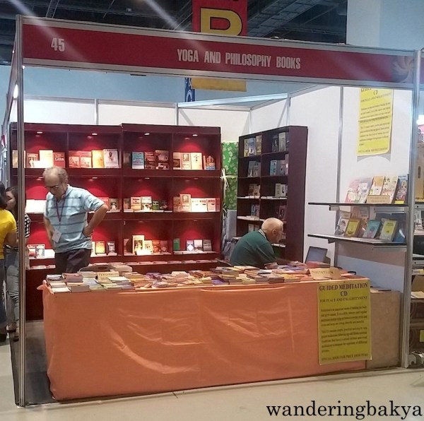 There was a booth for yoga practitioners or for stressed out book lovers.