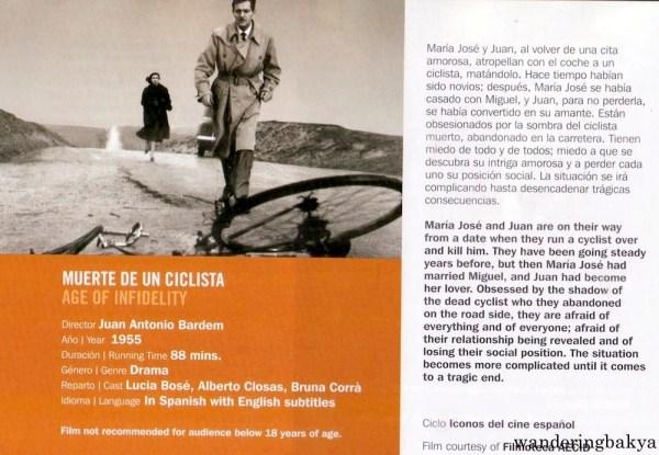 Muerte de un Ciclista (Age of Infidelity) directed by Juan Antonio Bardem, 1955