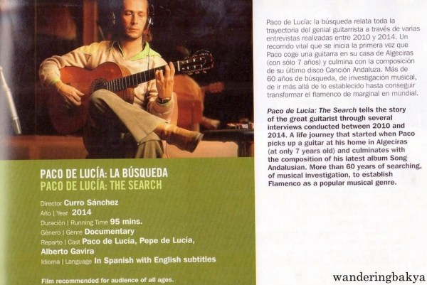 Summary and other details of Paco de Lucía: La Búsqueda (Paco de Lucía: The Search) by Curro Sánchez