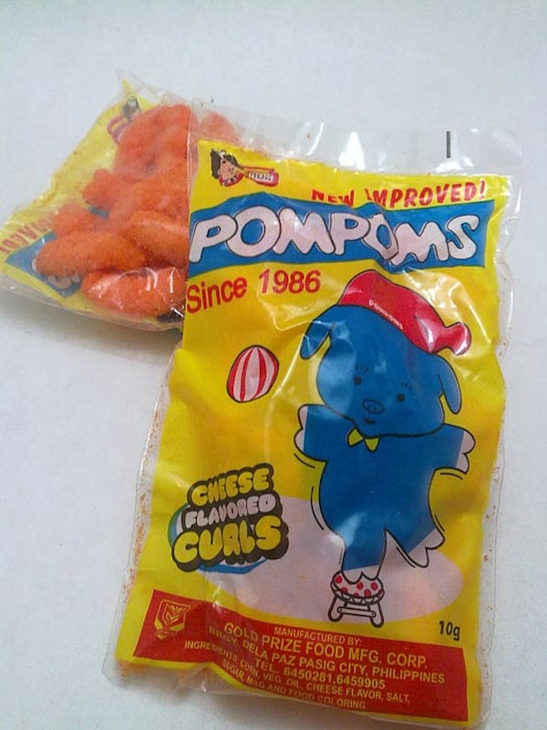 Pompom's Cheese Flavored Curls. Photo from google.com