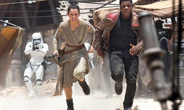 Star Wars: The Force Awakens' Rey (Daisy Ridley) and Finn (John Boyega). Photo from newsrama.com