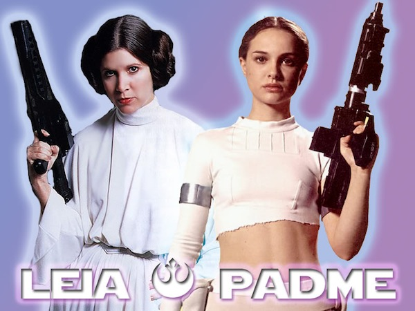 Star Wars' Princess Leia and Padmé Amidala. Photo from swuniverse.mforos.com