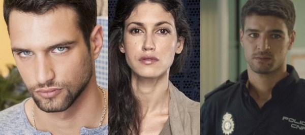 El Príncipe Season II's new faces. Paco Ben Barek (Jesús Castro), Laura Hidalgo (Nerea Barros) and Samy (Ahmed Younoussi). Photo from formulatv.com