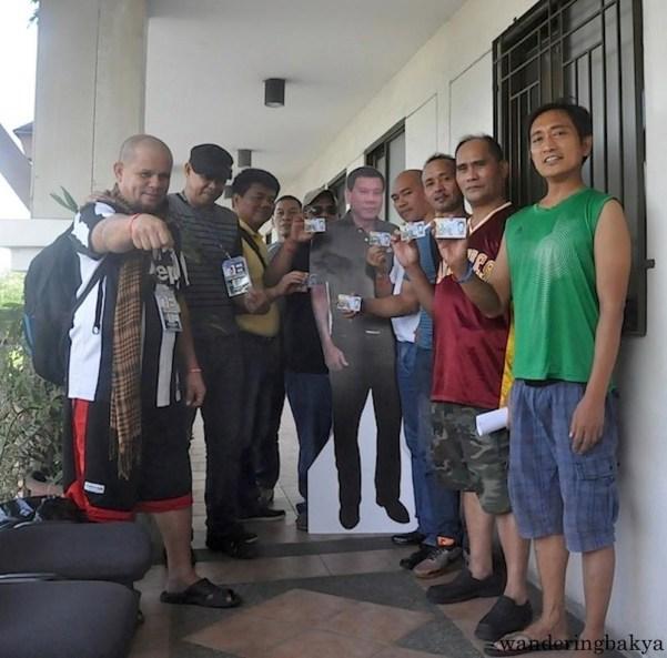 The Philippine Seafarers Group supports Mayor Rodrigo Duterte's presidential campaign. Taken at MRRD NECC Pasig City Headquarters.