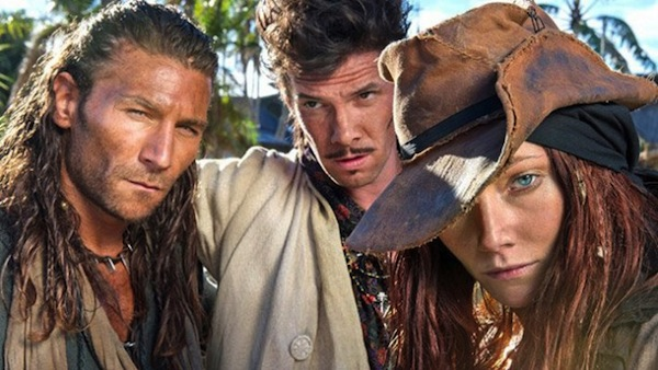 Black Sails' Charles Vane (Zach McGowan), Jack Rackham (Toby Schmitz) and Anne Bonny (Clara Paget). Photo from seriable.com