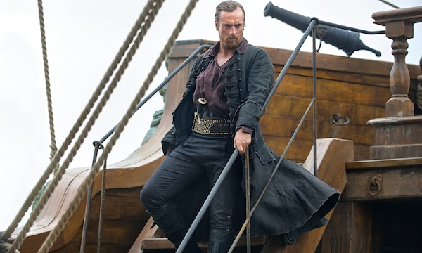 Black Sails' Captain Flint (Toby Stephens) of the Walrus. Photo from theguardian.com