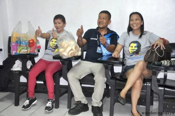 Some of MRRD NECC volunteers at the Quezon City headquarters.