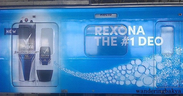 I am not sure if Rexona is the #1 deo, but it sure makes the side of the LRT Line 2 coaches look peaceful and cool.