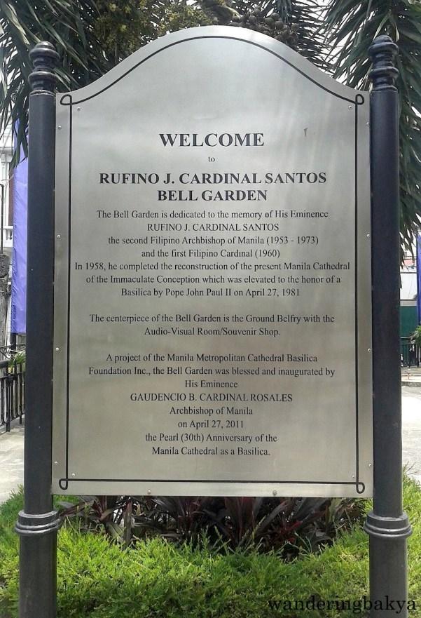 Rufino J. Cardinal Santos Bell Garden