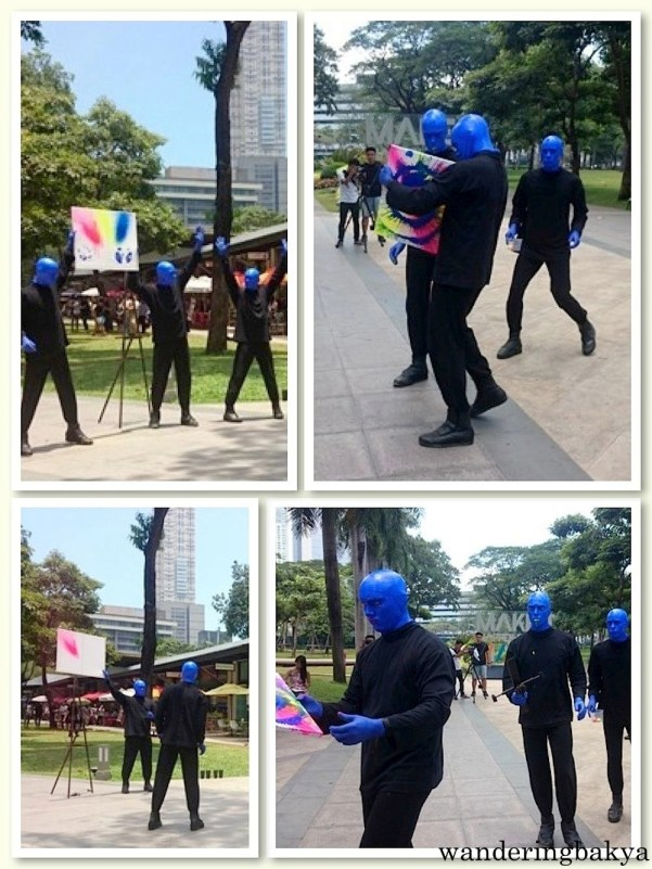 Blue Man Group (in Manila) also made an appearance. Blue Man Group is a trio of blue and bald performers that usually enthrall the crowd with music and lights. Photos by SPRDC.