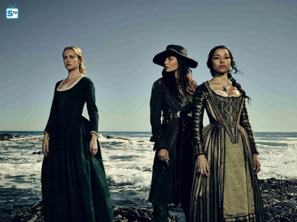 The women of Black Sails. From left to right: Eleanor Guthrie (Hannah New), Anne Bonny (Clara Paget) and Max (Jessica Parker Kennedy). Photo from images.spoilertv.com